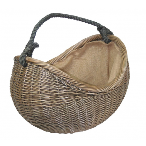 Antique Wash Rope Handled Carrying Basket