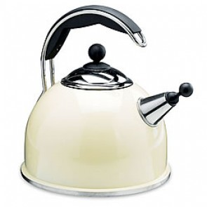 AGA Cream Whistling Kettle - 2.2L