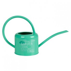 Green galvanised steel indoor watering can