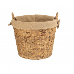 Round Lined Water Hyacinth Log Basket