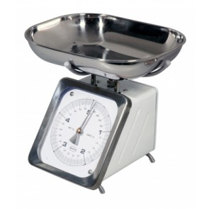 White Retro Metric Kitchen Scale - Up to 5kg