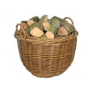 Large Green Ash Round Log Basket