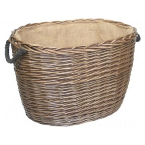 Large Oval Log Basket