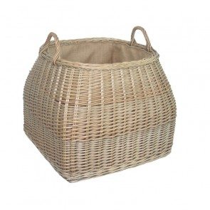Tapered top Antique wash willow log basket