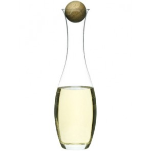 Blown Glass White Wine or Water Carafe
