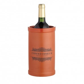 Terracotta wine chiller with glazed interior