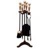 Black & Antique Companion Set - Ball Top