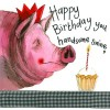 Alex Clark Handsome Swine Large Sparkle Card