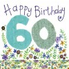 Alex Clark Happy 60th Birthday Large Sparkle Card