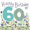 Alex Clark Happy 60th Birthday Large Sparkle Card