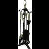 Black &  Satin Nickel Companion Set - Loop Top