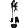 All Black Companion Set - Traditional Top - Round Base - 570mm