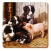 Set of 6 Piggy in the Middle Coasters