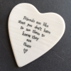 Porcelain Heart Coaster - Friends like Stars