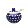 Frogeye Polish Pottery Large Sugar Bowl & Spoon
