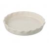 Miel Cream Ceramic Flan Dish