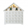 White Christmas Scene LED Advent Calendar