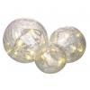 Glass Crackle Ball Lights (Set of 3)