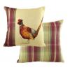 Painted Pheasant Square Cushion