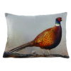 Pheasant Velvet Cushion