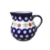 Cranberry Polish Pottery Cream Jug