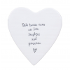 Porcelain Heart Coaster - Laughter and Prosecco