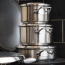 New AGA Stainless Steel Stacking Pans with stacking lid