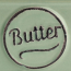 Butter dish embossed