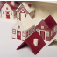 Painted Wooden House Advent Calendar
