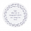 Love brings you home round ceramic coaster - East of India