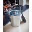 Galvanised Ash bucket with lid