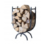 Large Curved Black Metal Log Holder