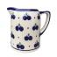 Boleslawiec Polish Pottery Pint Jug in Blueberry