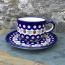 Boleslawiec Cranberry Cup & Saucer