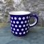 Frogeye Patterned Polish Pottery Mug (hand painted)