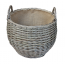 Large Antique Wash Stumpy Basket with Lining