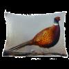 Pheasant Velvet Cushion