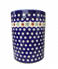 Cranberry Polish Pottery Utensil Jar