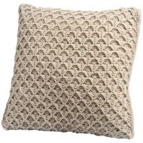 Hover over image to enlarge Click to change image          Dimple knit cream cushion