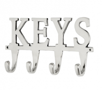 Large Nickel Metal Key Hook