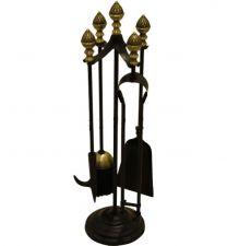 Black & Antique Acorn Top Companion Set