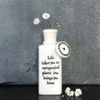 Flat porcelain bottle - Love Takes You To Unexpected Places