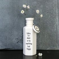 Hexagonal porcelain bottle - Life's too short