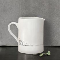 Porcelain Small Jug - Time For Tea