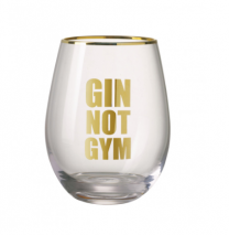 Parlane Gin not gym drinking glass