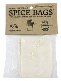 Regency Naturals Reusable Spice Bags, Pack of 4