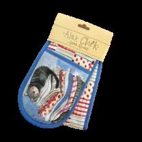 Alex Clark Laundry Basket Double Oven Gloves