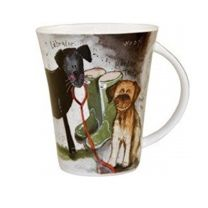 Alex Clark Labrador and Border Terrier Mug - Flirt Mug