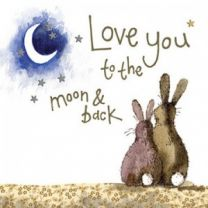 Alex Clark Love You To The Moon And Back Large Sparkle Card