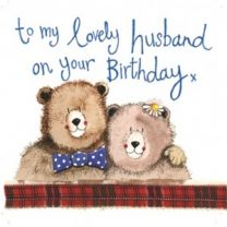 Alex Clark Birthday Husband Large Sparkle Card